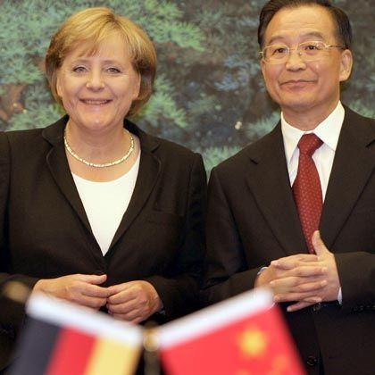 Merkel trifft Wen: Peking ist die erste Station einer sechstägigen Reise der Kanzlerin nach China und Japan