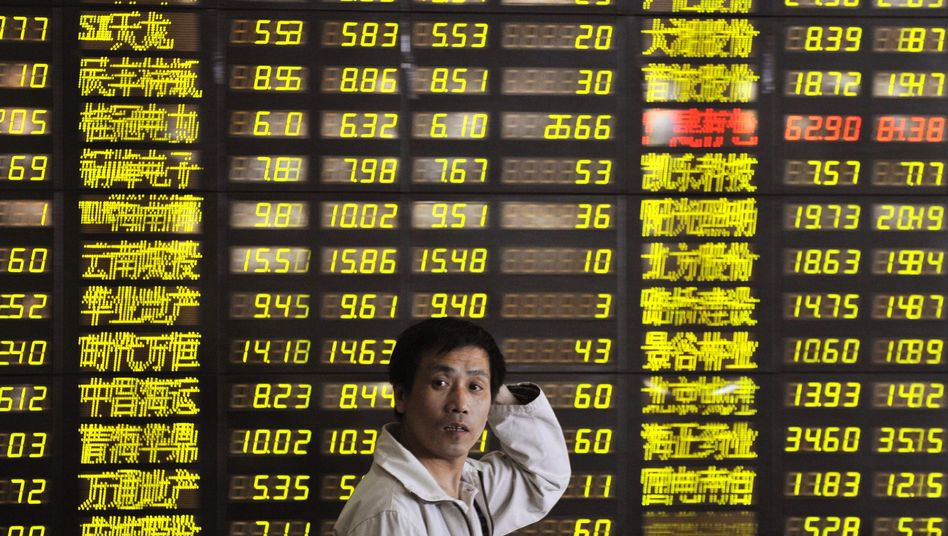 Börse im chinesischen Shenyang: Die Turbokonjunktur in China wird in der zweiten Jahreshälfte an Fahrt verlieren