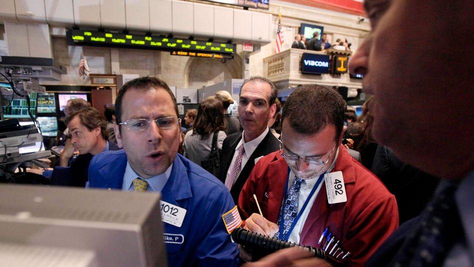 Aktienhändler in New York (Symbolbild)
