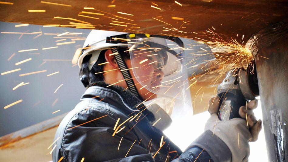 Chinesischer Arbeiter: Plus 6,7 Prozent