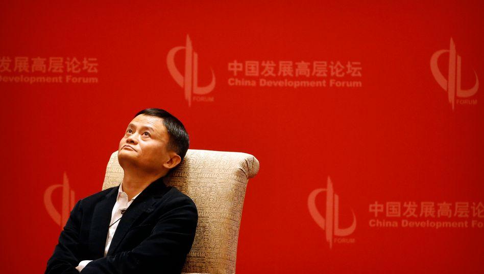 Offenbar vorsichtshalber auf Tauchstation: Alibaba-Gründer Jack Ma befindet sich im Visier Pekings