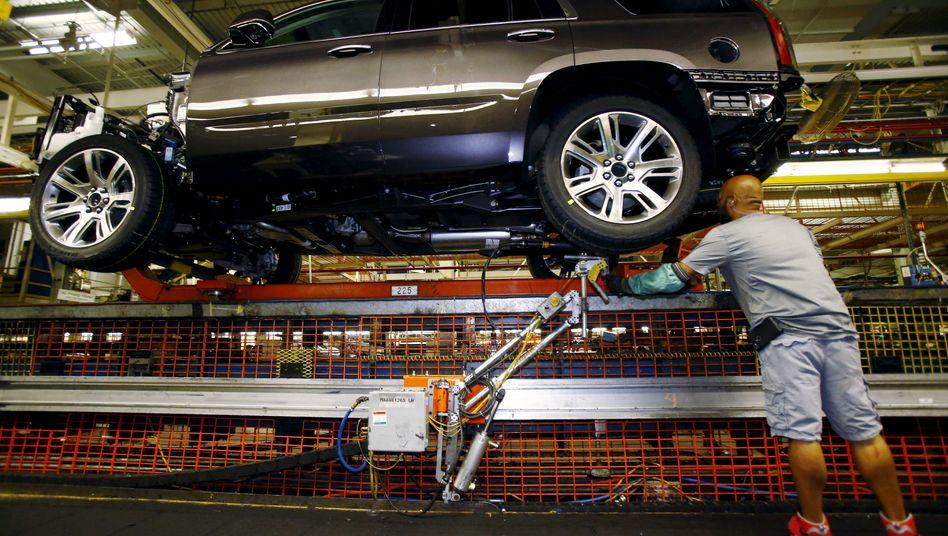 """Importzölle auf ausländische Autos könnten letztlich zu einem """"kleineren GM"""" führen, warnt der Autobauer General Motors unmissverständlich den US-Präsidenten"""