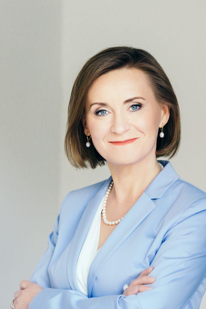 Sigrid Nikutta ist Vorstandsvorsitzende der Berliner Verkehrsbetriebe (BVG) und steht als erste Frau an der Spitze des Unternehmens.