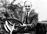Vom Schulabbrecher zum Pionier: Henry Ford 1904 am Steuer des Modells A