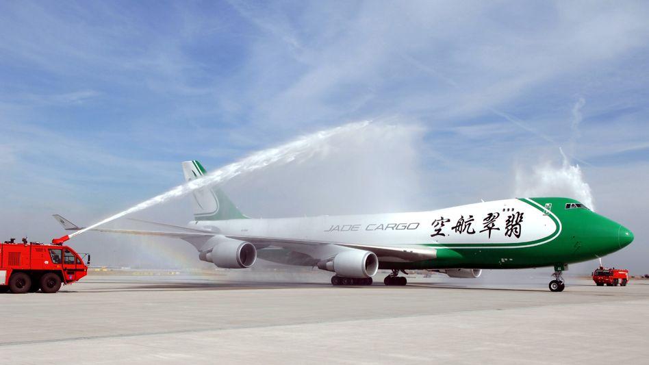 Boeing 747 der chinesischen Frachtfluggesellschaft Jade Cargo: Noch liefert Boeing Flugzeuge nach China. Doch das muss nicht so bleiben