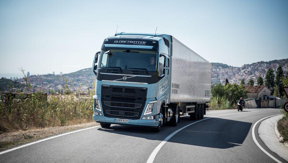 Kaum nachgefragt: Der Absatz von Volvo-Lkw ging um 57 Prozent zurück