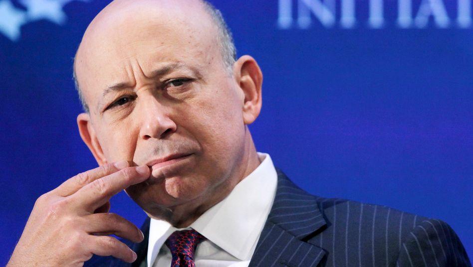 Hätte angesichts seines Millionenverdienstes eigentlich Grund zur Freude: Goldman-Sachs-Chef Lloyd Blankfein