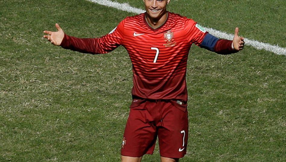 Kein Grund zur Verzweiflung: Cristiano Ronaldo nach verpasster Chance im Spiel Portugal-Ghana
