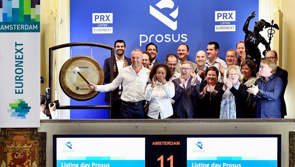 Die Börse in Amsterdam begrüßt mit Prosus, der Tochter des südafrikanischen Medienkonzerns Naspers, das wertvollste Unternehmen in den Niederlanden