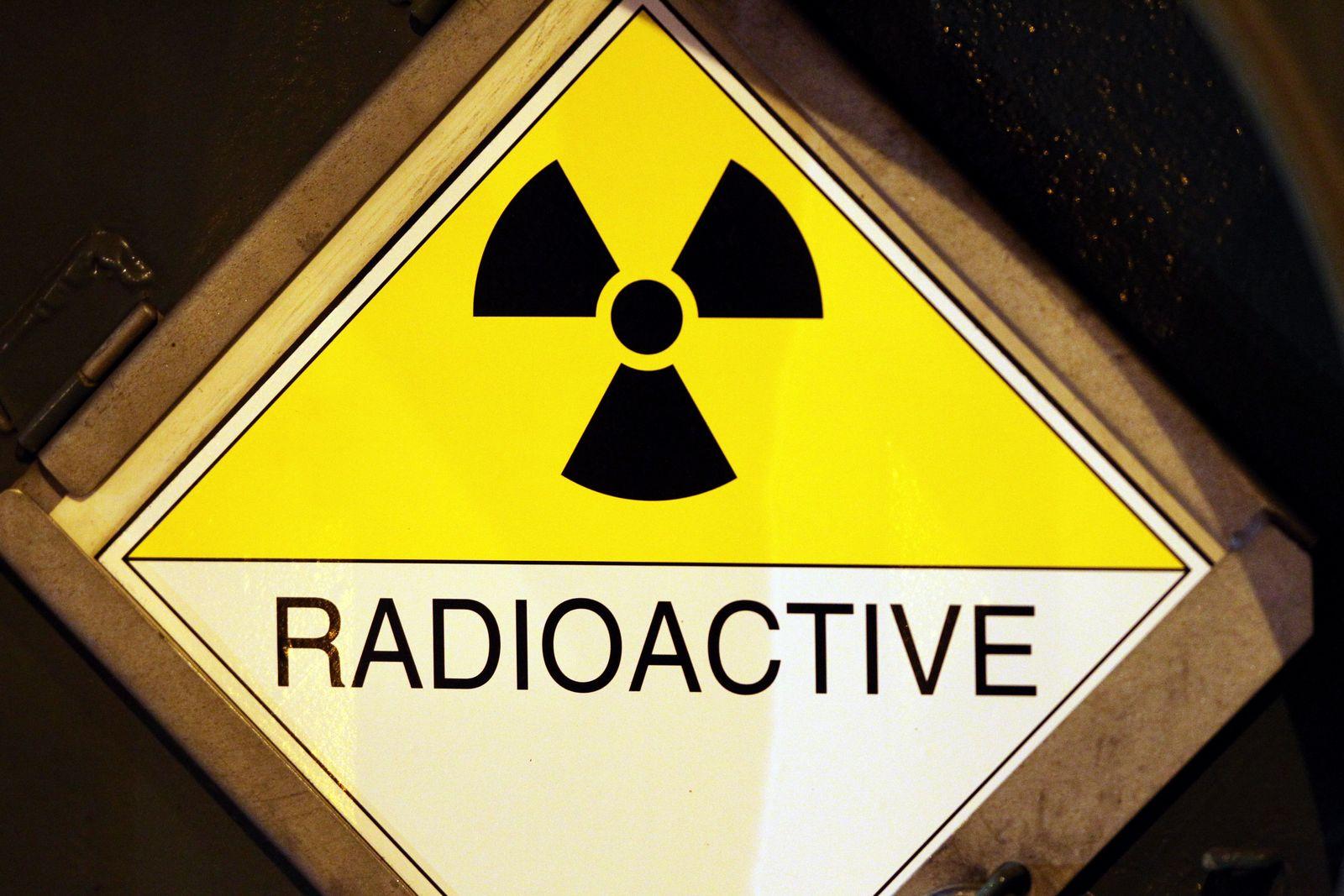 Warnung vor Radioktivität