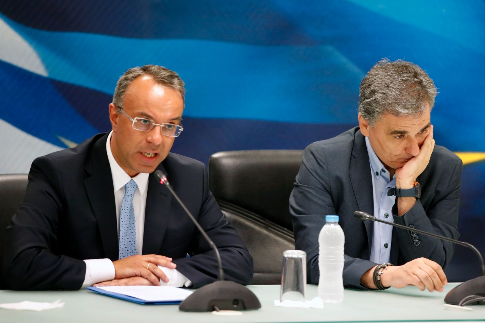 Griechenland / Finanzminister Christos Staikouras / Euklid Tsakalotos
