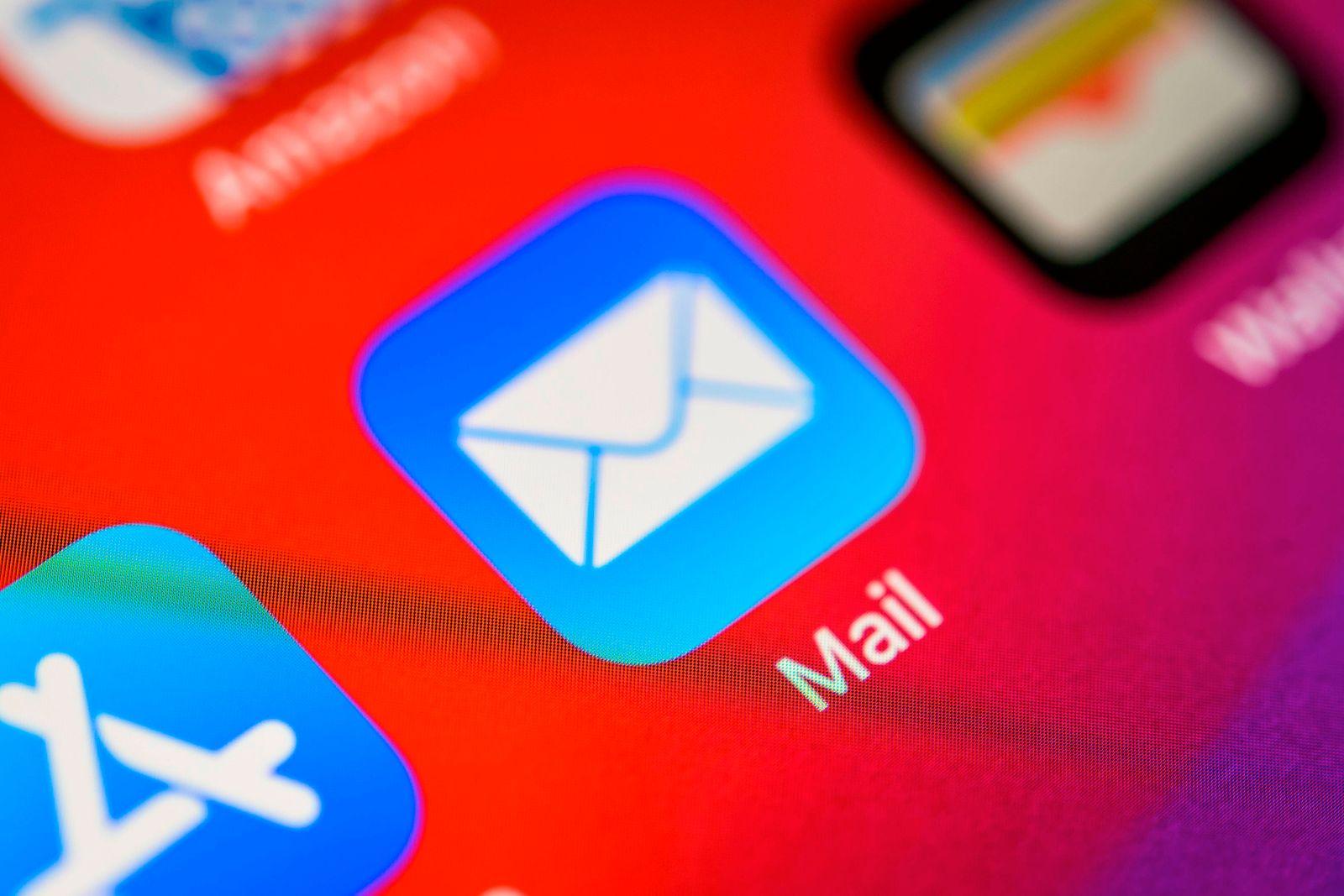EINMALIGE VERWENDUNG Apple Mail App