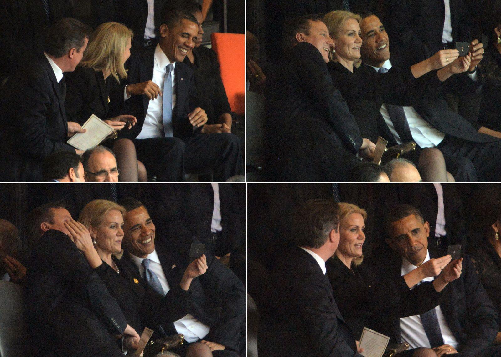 Obama / Mandela-Trauerfeier / Helle Thorning Schmidt / Selfie
