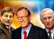 Kollektive Annäherung an die Pensionsgrenze: Konzernvorstände Bischoff, Schremmp, Hubbert (von links nach rechts)