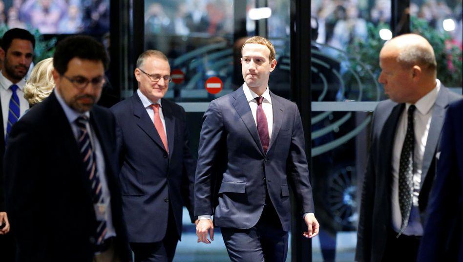 Facebook-Chef Mark Zuckerberg im Mai vor dem EU-Parlament