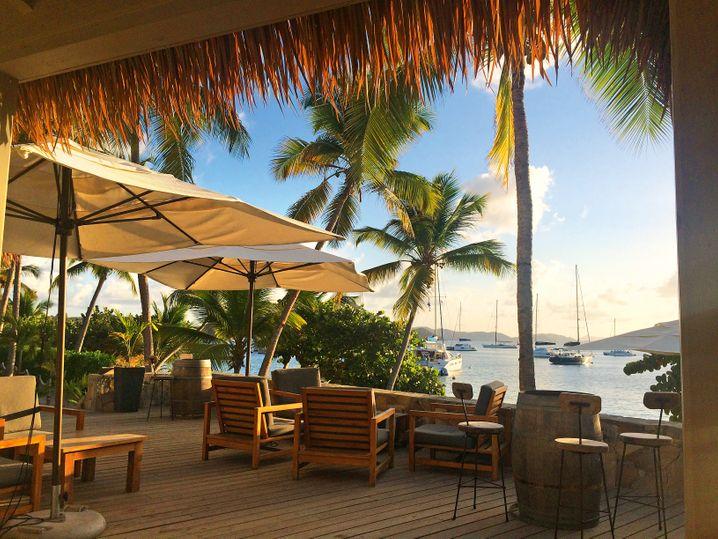 Cooper-Island-Beach-Club: Bootsleute sind überall auf den Britischen Jungferninseln gern gesehene Gäste