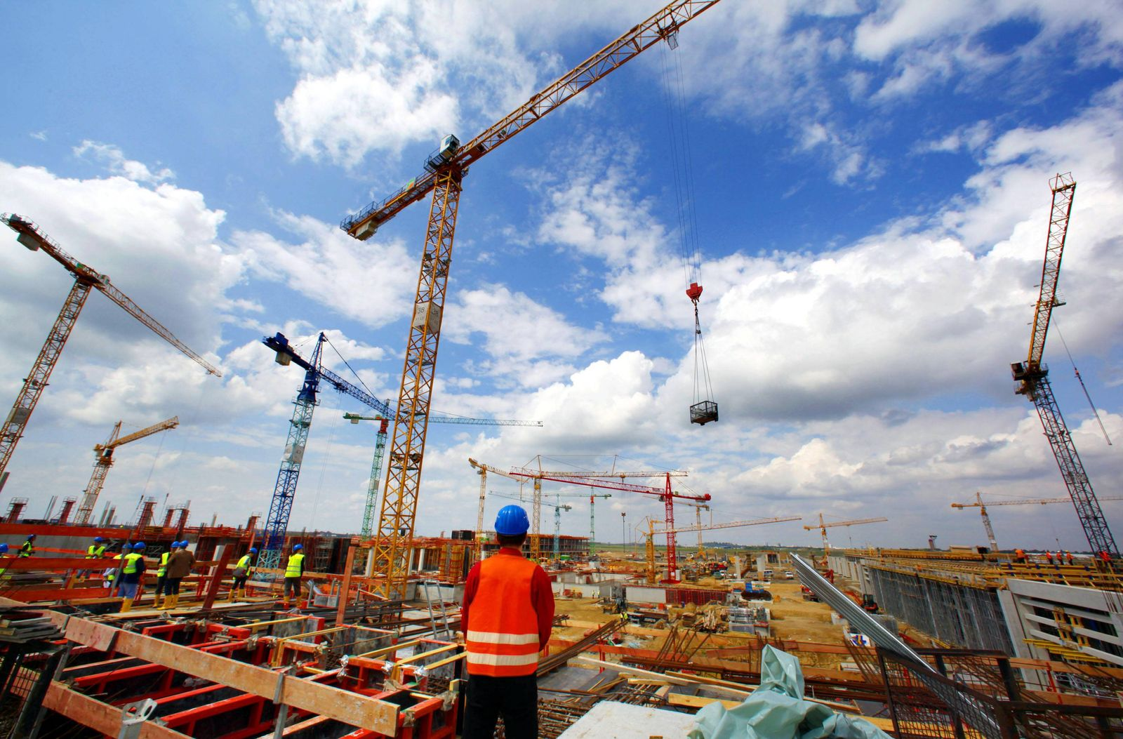 NICHT VERWENDEN Konjunktur / Baustelle