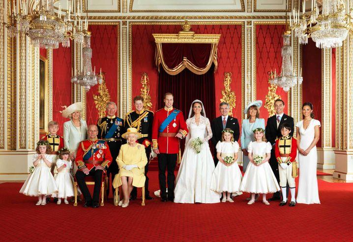 Royale Hochzeitsgesellschaft bei der Vermählung des Herzogs und der Herzogin von Cambridge 2011