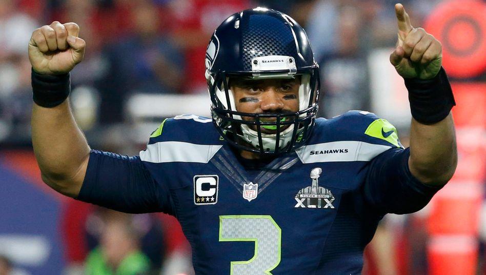 Seattle Seahawks Quarterback Russell Wilson bekommt für einen Vierjahresvertrag rund 124 Millionen Euro