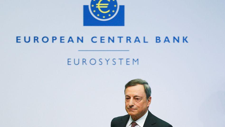 EZB-Chef Mario Draghi: Alle Optionen offen gehalten