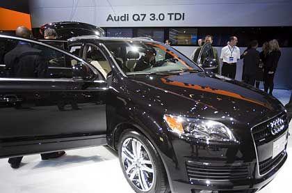 Soll die Erfolgsserie fortsetzen: Der neue Audi Q7 3.0 TDI auf der Internationalen Auto Show in Detroit