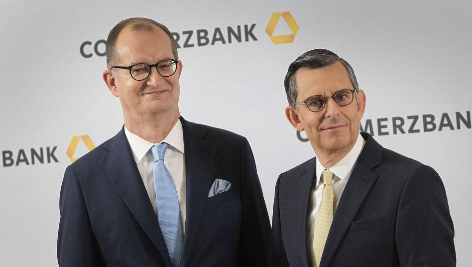 Abgang: Commerzbank-Chef Martin Zielke (links) und Aufsichtsratschef Stefan Schmittmann.