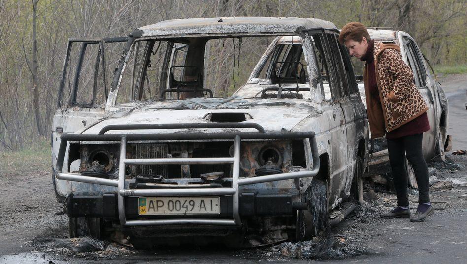 Autowrack: An dem prorussischem Checkpoint kam es zu einer Schießerei