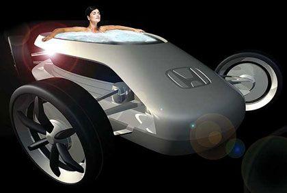 """Honda L.A. Rolling Film Festival: Die Japaner stellen gleich sieben Studien vor, darunter den hier gezeigten """"Jacarzzi"""", einen Sportwagen mit eingebautem Blubberbad"""