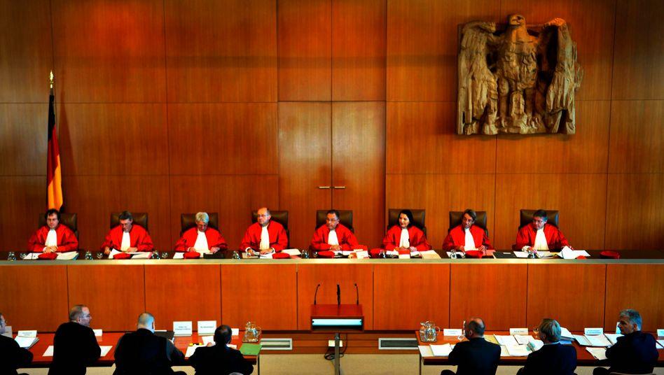 Richter in Karlsruhe: Die Verfahrensregeln sind nicht anwendbar