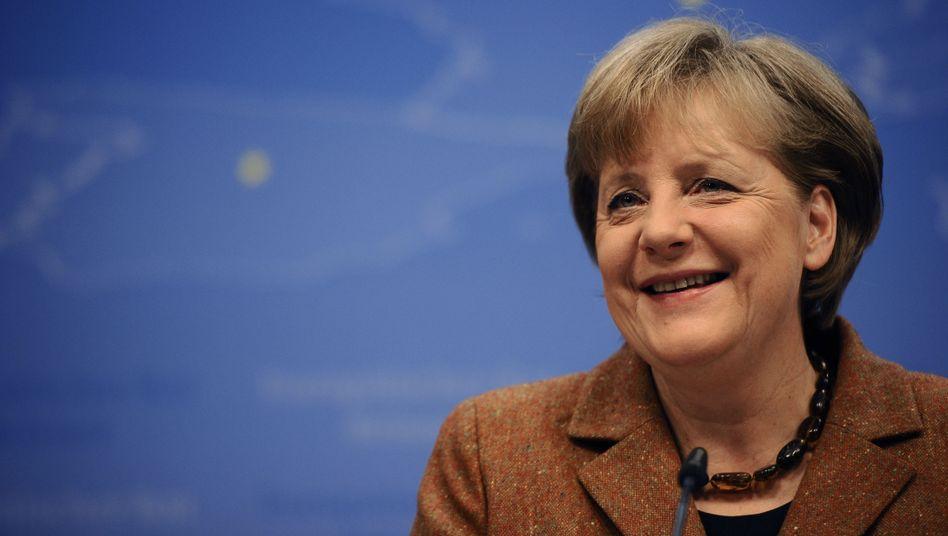 Zuversichtlich: Bundeskanzlerin Angela Merkel
