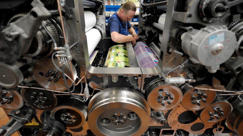 Heideldruck-Werk in Wiesloch: Das Betriebsergebnis des weltgrößten Druckmaschinenherstellers ist weiter gefallen