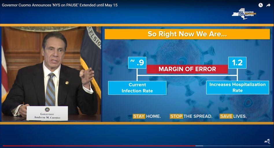 Professionelle Kommunikation à la McKinsey: New Yorks Gouverneur Cuomo erklärt die Corona-Krise.