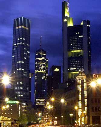 Ohne Kapital keine Investitionen: Banken in Frankfurt