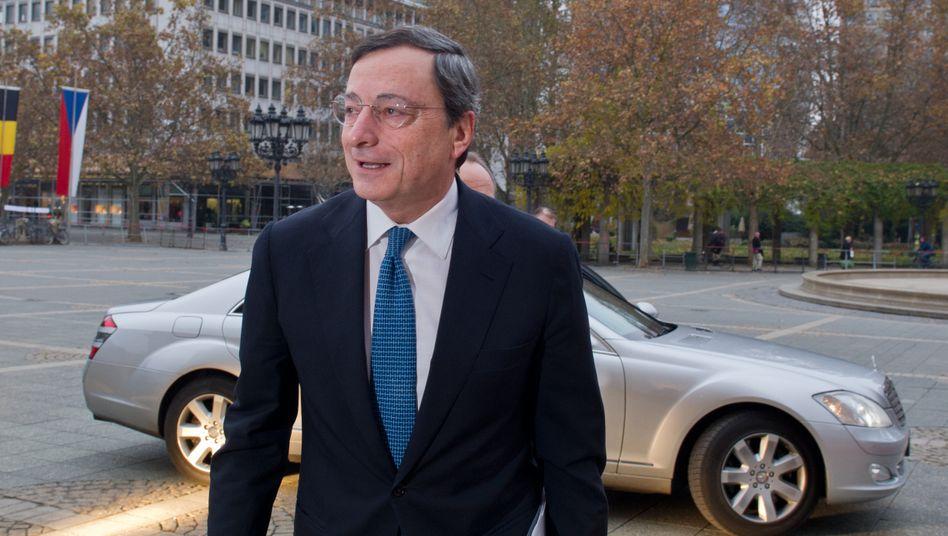 Mario Draghi, Präsident der Europäischen Zentralbank (EZB): Dem Italiener dürfte so manches quer im Magen liegen - zumindest lesen sich die aktuellen Einlassungen der EZB so