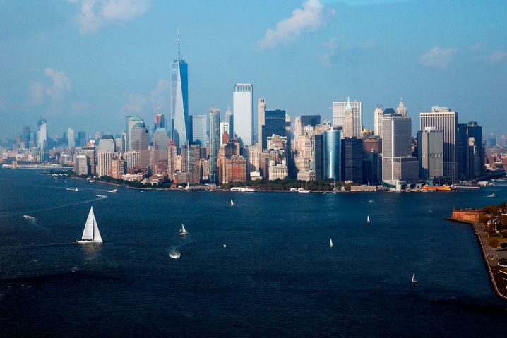 Skyline von New York: Die Stadt kommt zur Ruhe