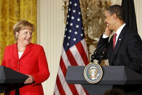 Merkel in Washington: Annäherung bei Klimazielen - und Konkurrenz
