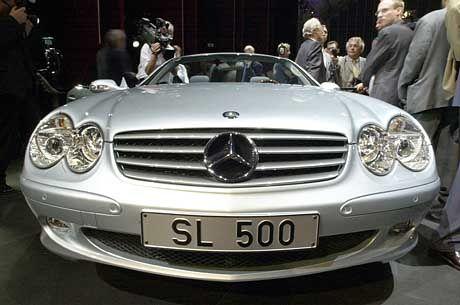 Stein des Anstoßes: Die MB SL 500-Präsentation.
