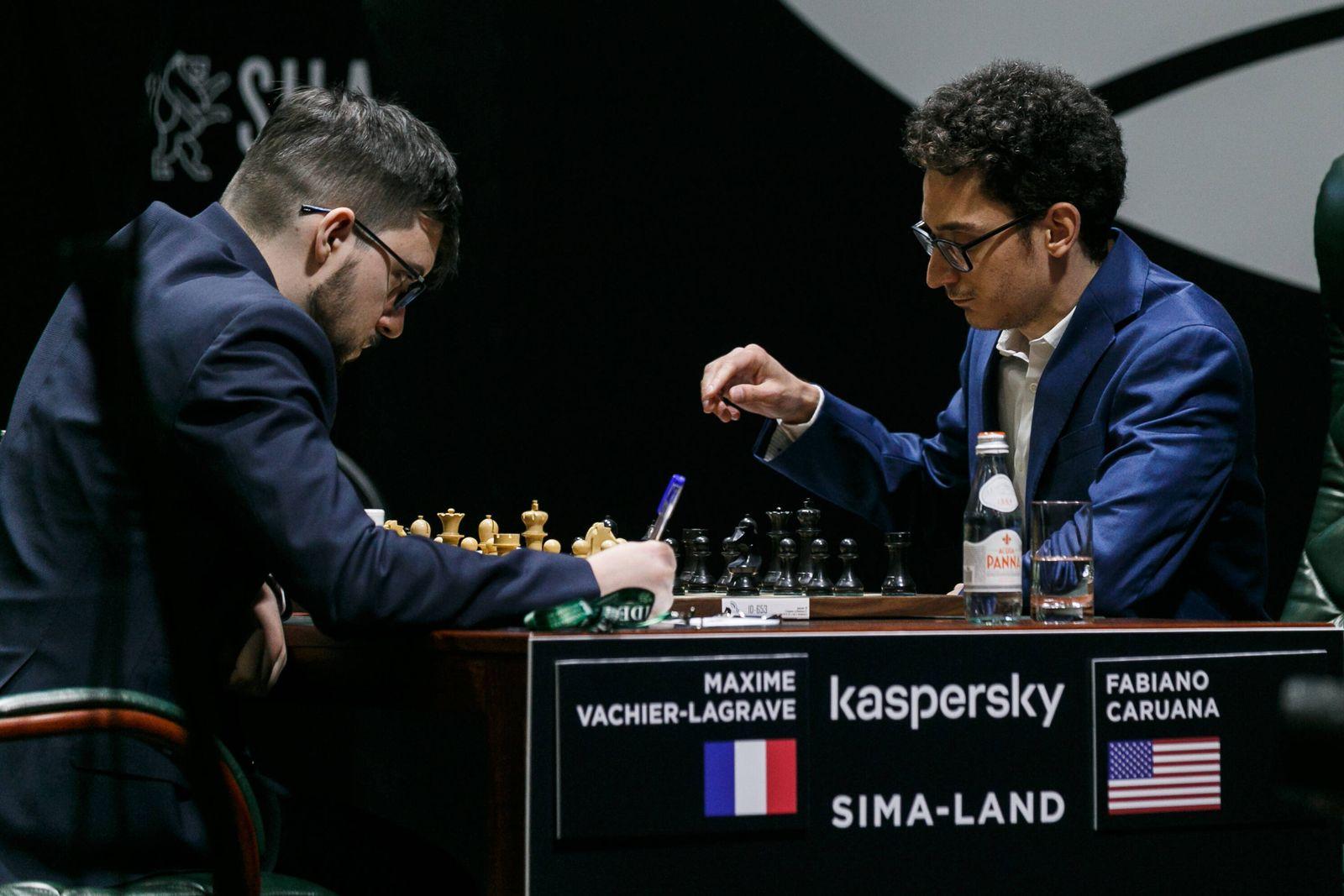 EINMALIGE VERWENDUNG Maxime Vachier-Lagrave / Fabiano Caruana