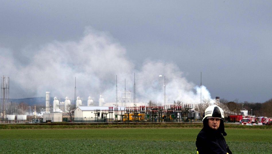 Beschädigte Gasstation in Baumgarten