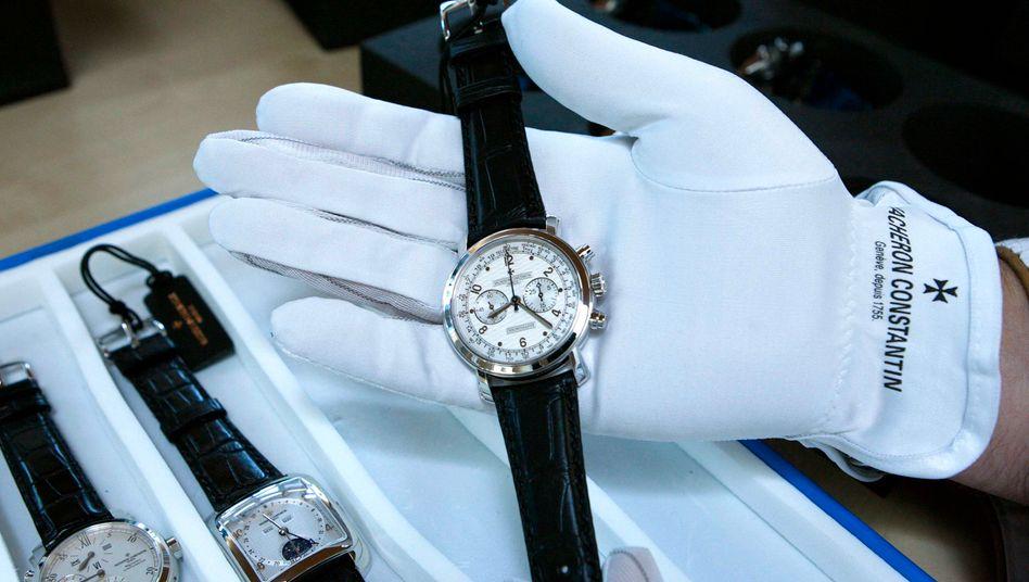 Luxusuhr von Vacheron Constantin: Die Marke gehört zum Schweizer Luxusgüterkonzern Richemont.