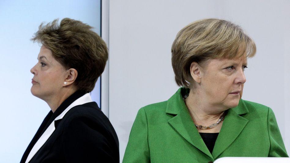 Präsidentin Rousseff und Kanzlerin Merkel: Nicht immer einer Meinung
