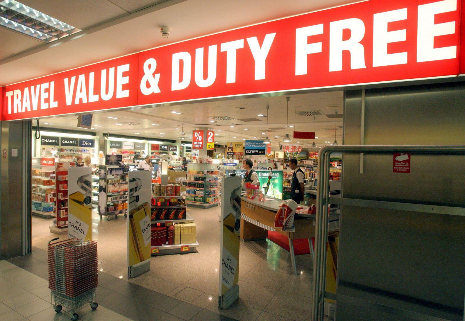 Duty-free-Shop am Flughafen