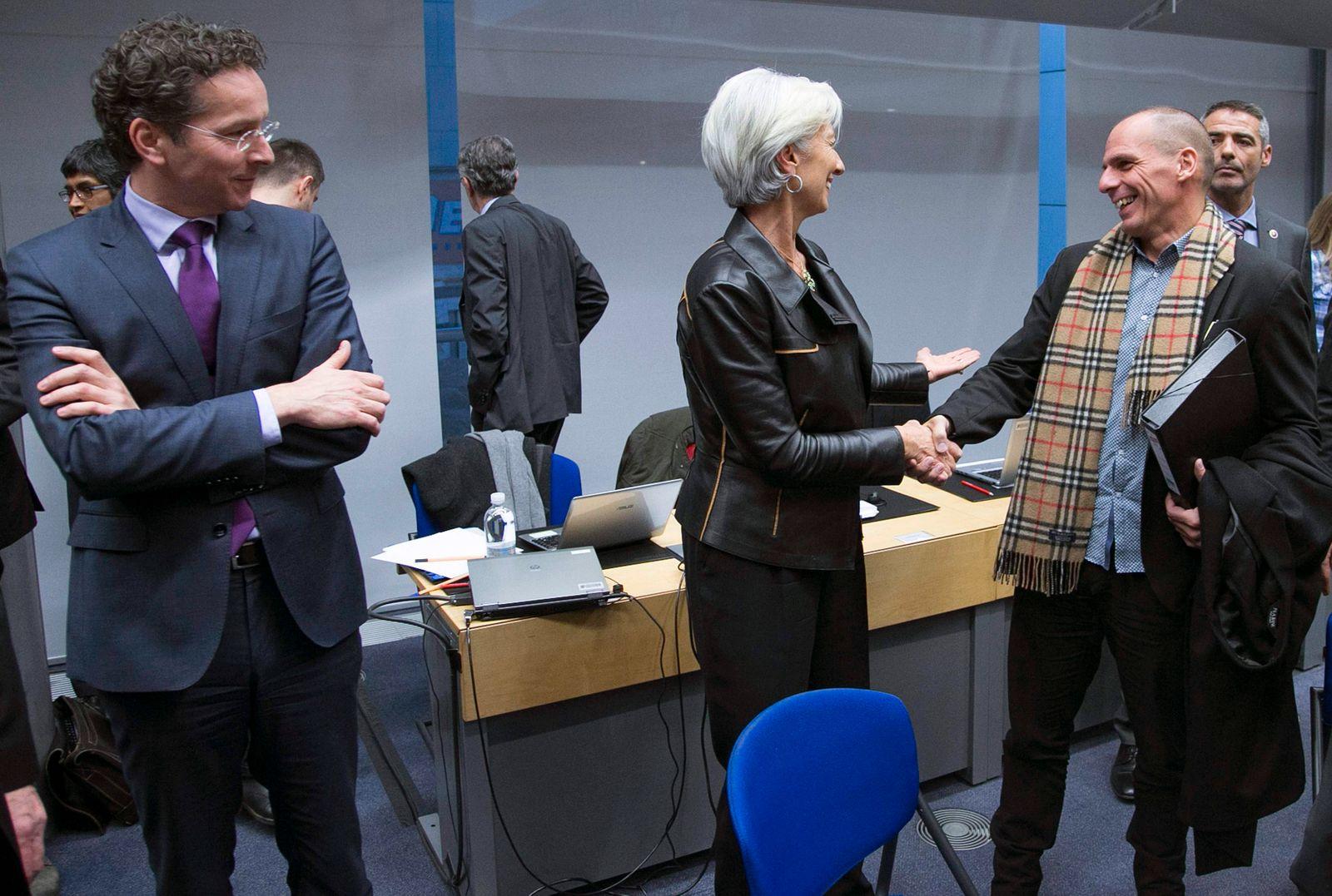 Varoufakis / Lagarde / Dijsselbloem