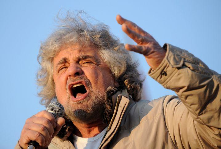 Nicht wirklich lustig für Europa: Beppe Grillo, Ex-Komiker und Anführer der eurokritischen Protestbewegung Fünf Sterne. Ihr werden 2018 Chancen auf einen Wahlsieg eingeräumt
