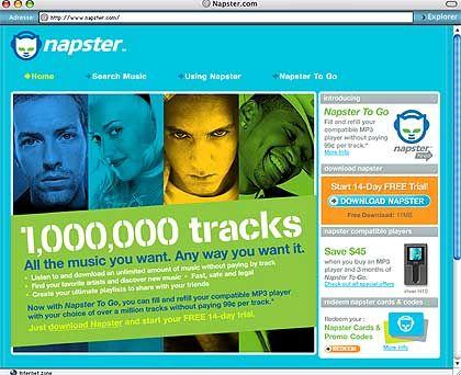 Der Anfang vom Ende: Die - früher illegale - Musiktauschbörse Napster