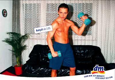 Powerbaby: dm ölt die Schwarzeneggers von morgen.