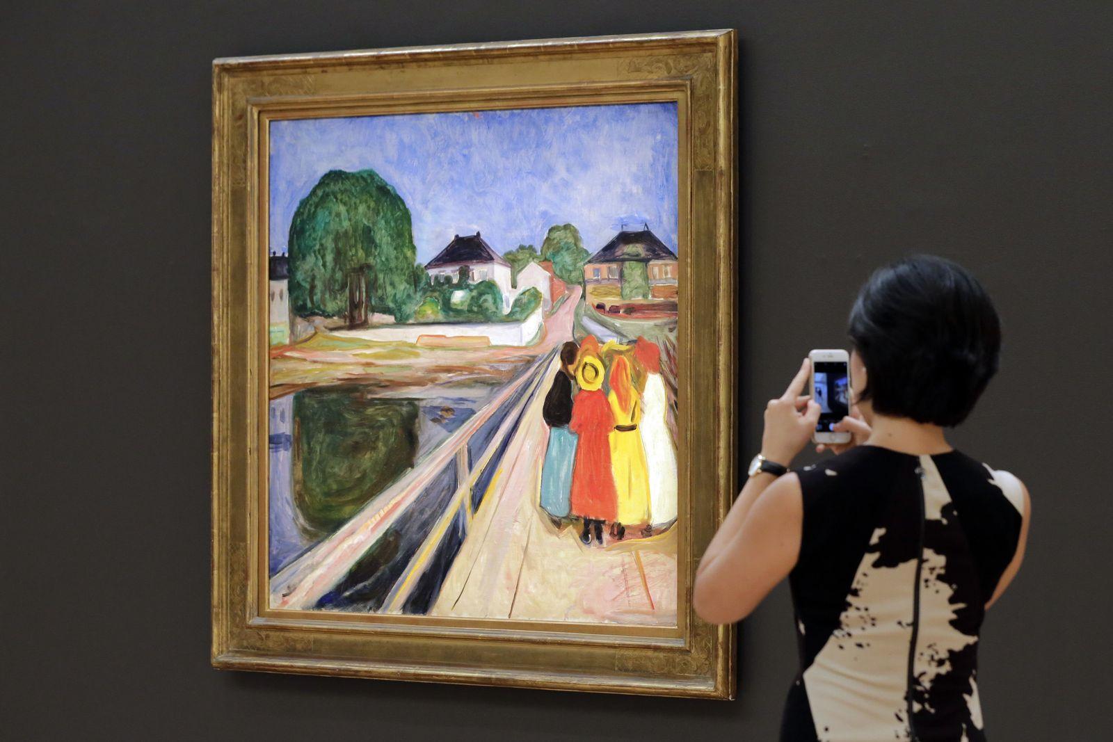 Munch Mädchen auf Brücke
