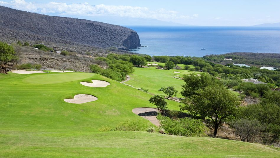 Chefetage: Golfplatz in einem von zwei Luxusresorts auf Larry Ellisons Grund auf der Hawaii-Insel Lanai
