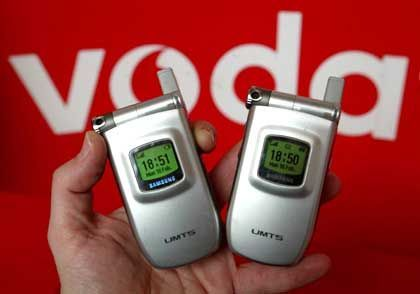 UMTS-Handys: Fast fünf Millionen Vodafone-Kunden weltweit nutzen den neuen Standard