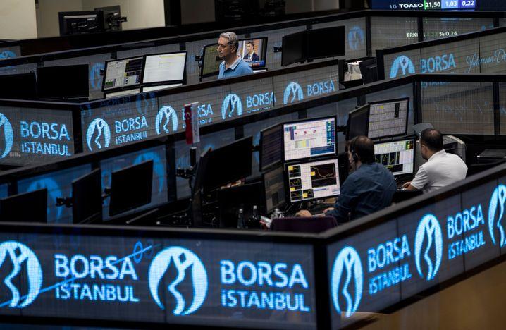 Türkische Börse in Istanbul: Der Leitindex ging brach am Montag um mehr als 5 Prozent ein